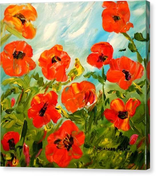 Bright Sunshiny Day Canvas Print by Barbara Pirkle