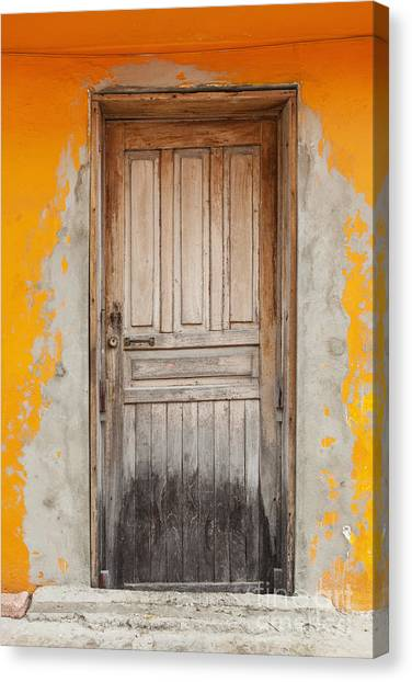 Brightly Colored Door And Wall Canvas Print