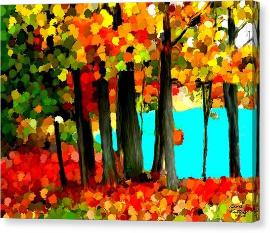 Brightness In The Forest Canvas Print