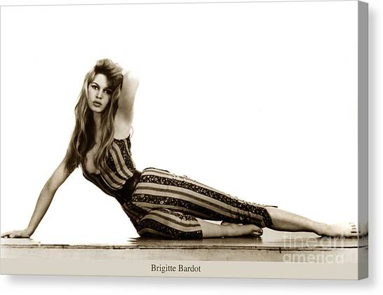 Sex Kitten Canvas Print - Brigitte Bardot French Actress Sex Symbol 1967 by California Views Archives Mr Pat Hathaway Archives