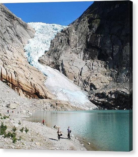 Glaciers Canvas Print - Briksdalsbreen 2010 #briksdalsbreen by Ryan Miller