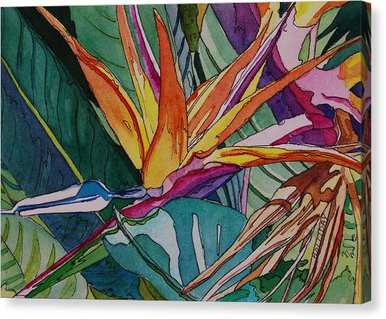 Brillant Bird Of Paradise Canvas Print