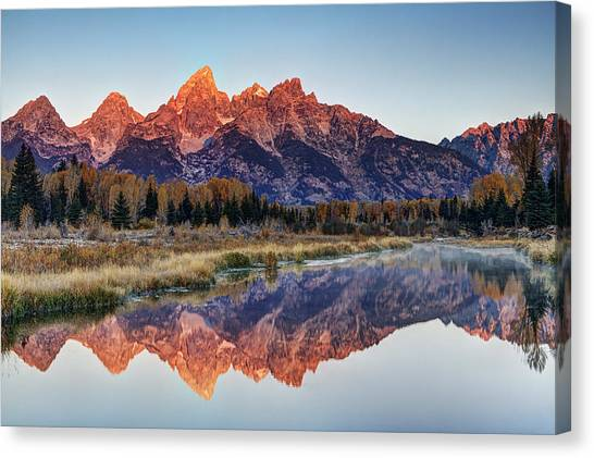 Teton Canvas Print - Brilliant Cathedral by Mark Kiver