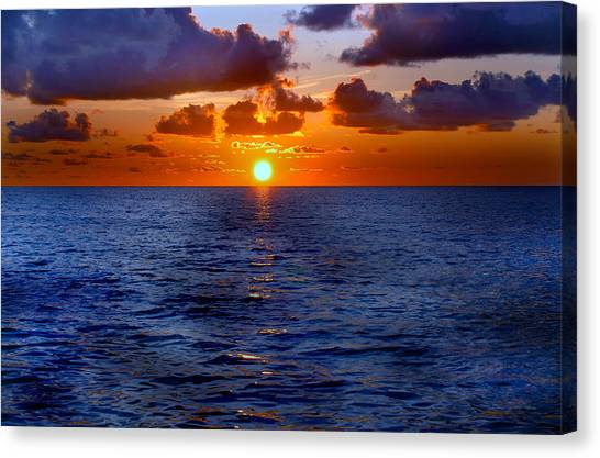 Brilliant Sunset Canvas Print by Donna Proctor