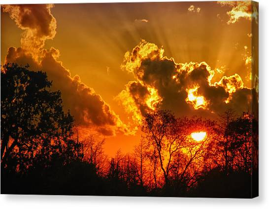 Brilliant Sunset Canvas Print