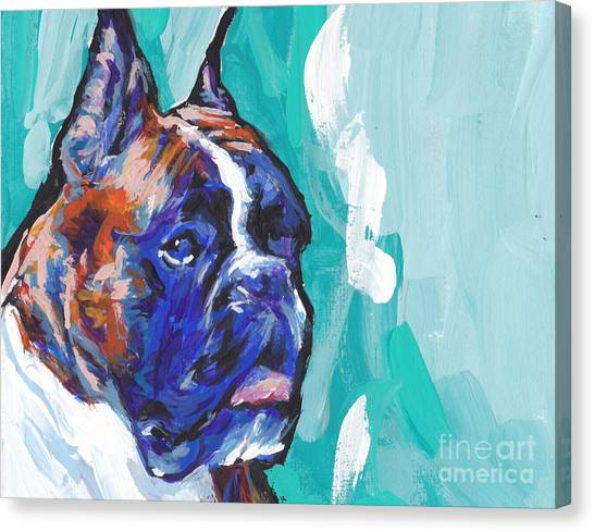 Brindle Canvas Print - Brindle Boxer Baby by Lea S