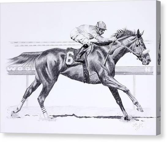 Bring On The Race Zenyatta Canvas Print