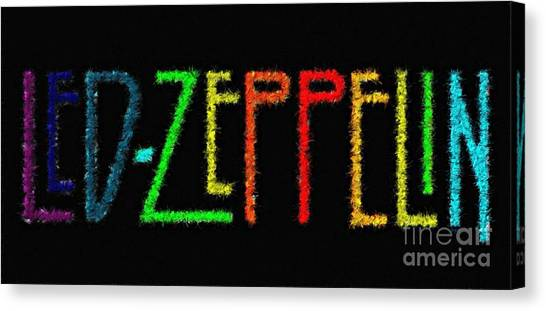 Led Zepplin Canvas Print - Bring Out The Led by Sergio B