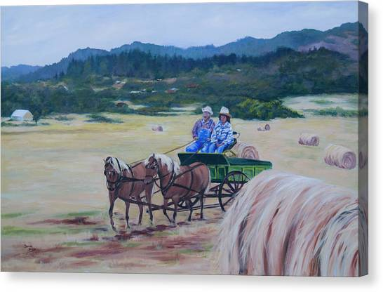 Bringing In The Harvest Canvas Print