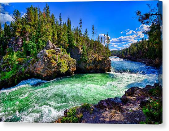 Brink Of Upper Falls Canvas Print