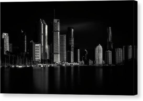 Marinas Canvas Print - Brisbane City Of Light by Steven Fudge