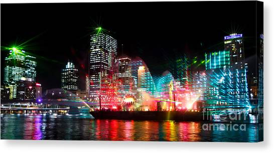 Brisbane City Of Lights Canvas Print