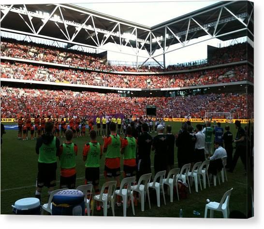 Soccer Leagues Canvas Print - Brisbane Roar Grand Final by George Lamba