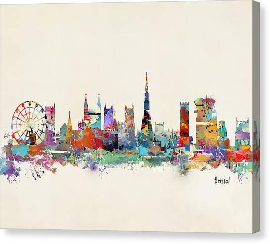 Bristol Canvas Print - Bristol City England by Bri Buckley