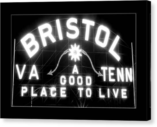 Bristol Virginia Tennesse Slogan Sign Canvas Print