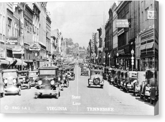 Bristol Virginia Tennessee State Street 1931 Canvas Print