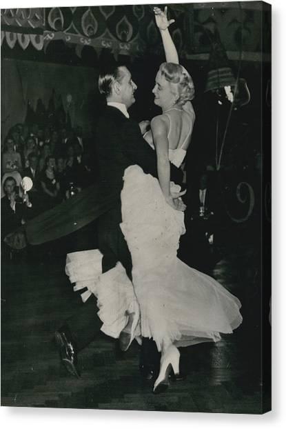 Brit I H Pajr Wins Dancing Grand Prix Canvas Print by Retro Images Archive