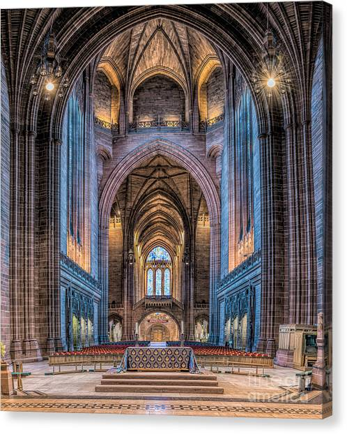 Aisle Canvas Print - British Cathedral by Adrian Evans