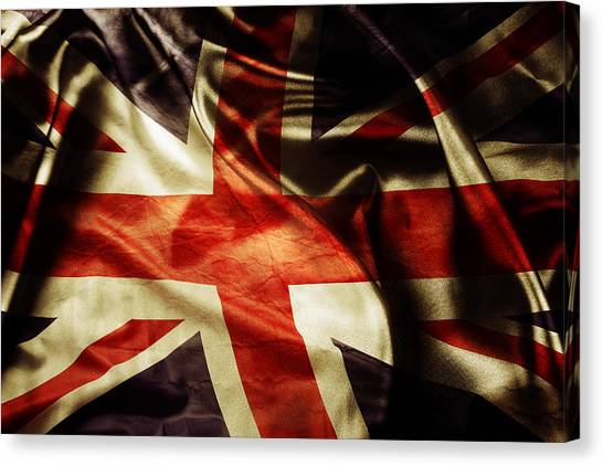 British Canvas Print - British Flag 1 by Les Cunliffe