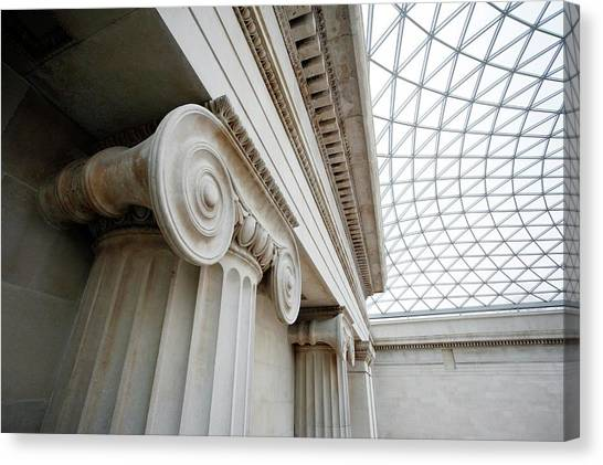 Queen Elizabeth Canvas Print - British Museum by Peter Falkner/science Photo Library