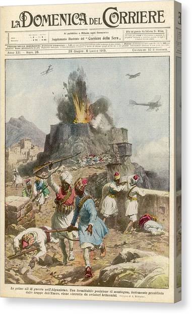 Emir Canvas Print - British Planes Bomb The Emir's by Mary Evans Picture Library