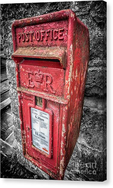 Mail Boxes Canvas Print - British Post Box by Adrian Evans