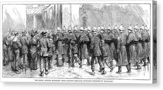 Royal Marines Canvas Print - British Sudan Campaign by Granger