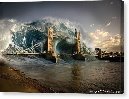 British Tsunami Canvas Print by T Dilley
