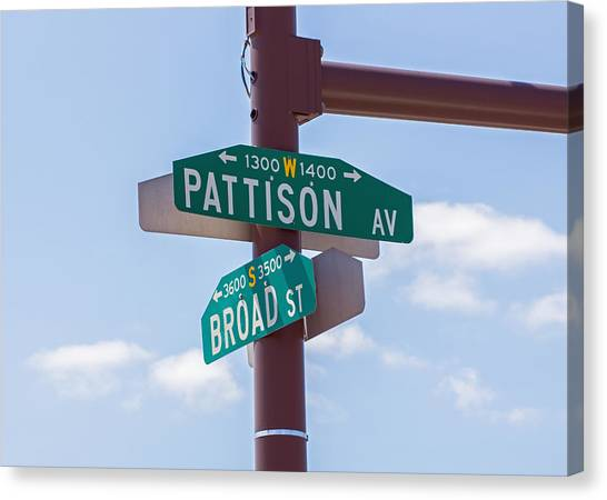 Broad And Pattison Where Philly Sports Happen Canvas Print