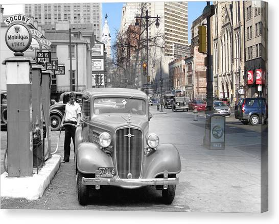 Broad Street Socony Canvas Print