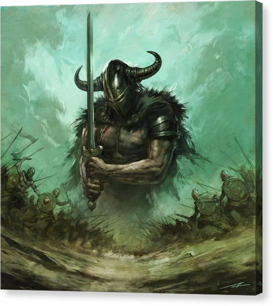 World Of Warcraft Canvas Print - Broadsword by Alan Lathwell