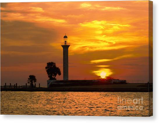 Broadwater Lighthouse Canvas Print