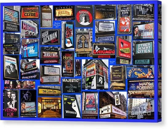 Broadway Collage Canvas Print