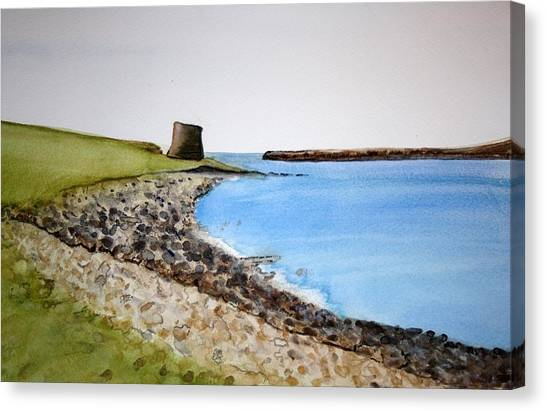 Pre-modern Art Canvas Print - Broch Of Mousa by Sandra Greenacre