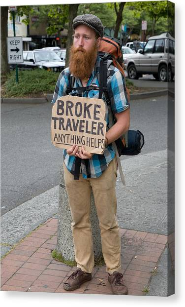 Broke Traveler Canvas Print