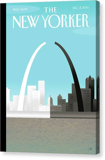 Racism Canvas Print - Broken Arch. A Scene From St. Louis by Bob Staake