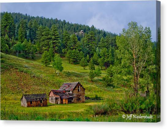 Broken Cabin Canvas Print
