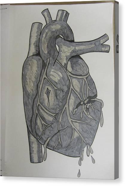 Broken Heart Canvas Print by Rosanne Bartlett