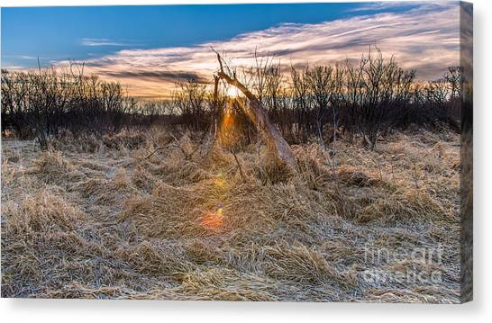 Prairie Sunrises Canvas Print - Broken Start by Andrew Slater