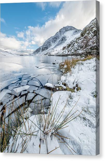 Tryfan Mountain Canvas Print - Broken Water by Adrian Evans