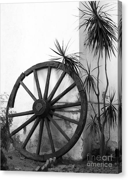Broken Wheel Canvas Print