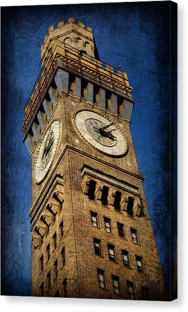 Orioles Canvas Print - Bromo Seltzer Tower No 3 by Stephen Stookey