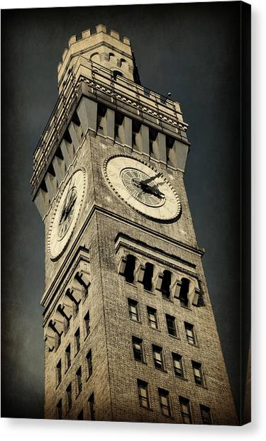 Baltimore Orioles Canvas Print - Bromo Seltzer Tower No 7 by Stephen Stookey