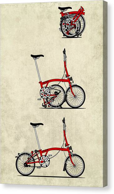 Cycling Canvas Print - Brompton Bicycle by Andy Scullion