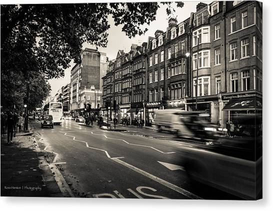 Brompton Road Knightsbridge Canvas Print