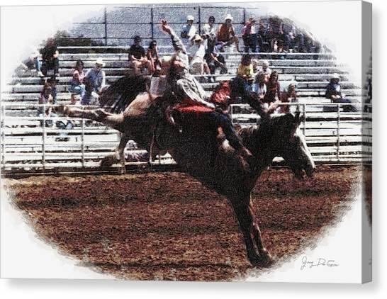 Bronco Rider Reno Rodeo Canvas Print