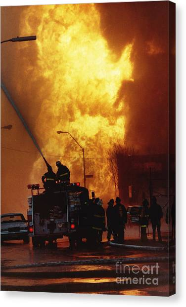 Bronx Gas Explosion Canvas Print