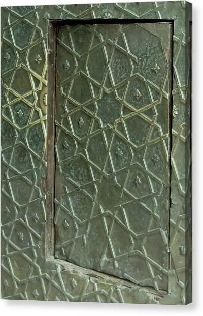 Bronze Door In A Door Canvas Print