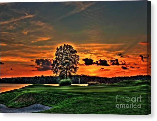 Jack Nicklaus Canvas Print - Bronze Number 4 by Reid Callaway