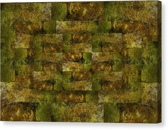 Bronze Weave Canvas Print